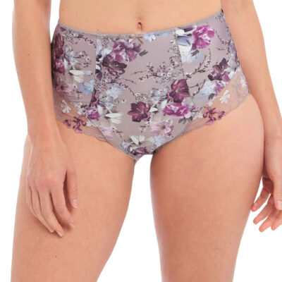 Front view of Fantasies Ellyn High waisted brief style number FL100352-VBM