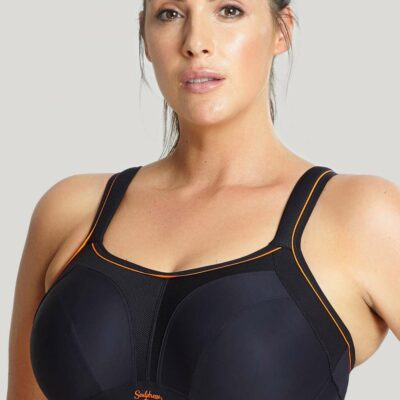 Close up of Panache Sculptresse Sports Bra in Black style number 9441_013